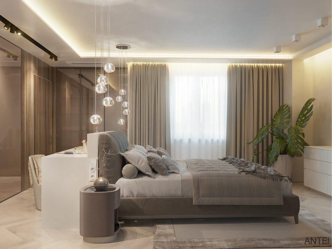 Дизайн интерьера трехкомнатной квартиры в Гомеле, ул. Советская - спальня фото №3