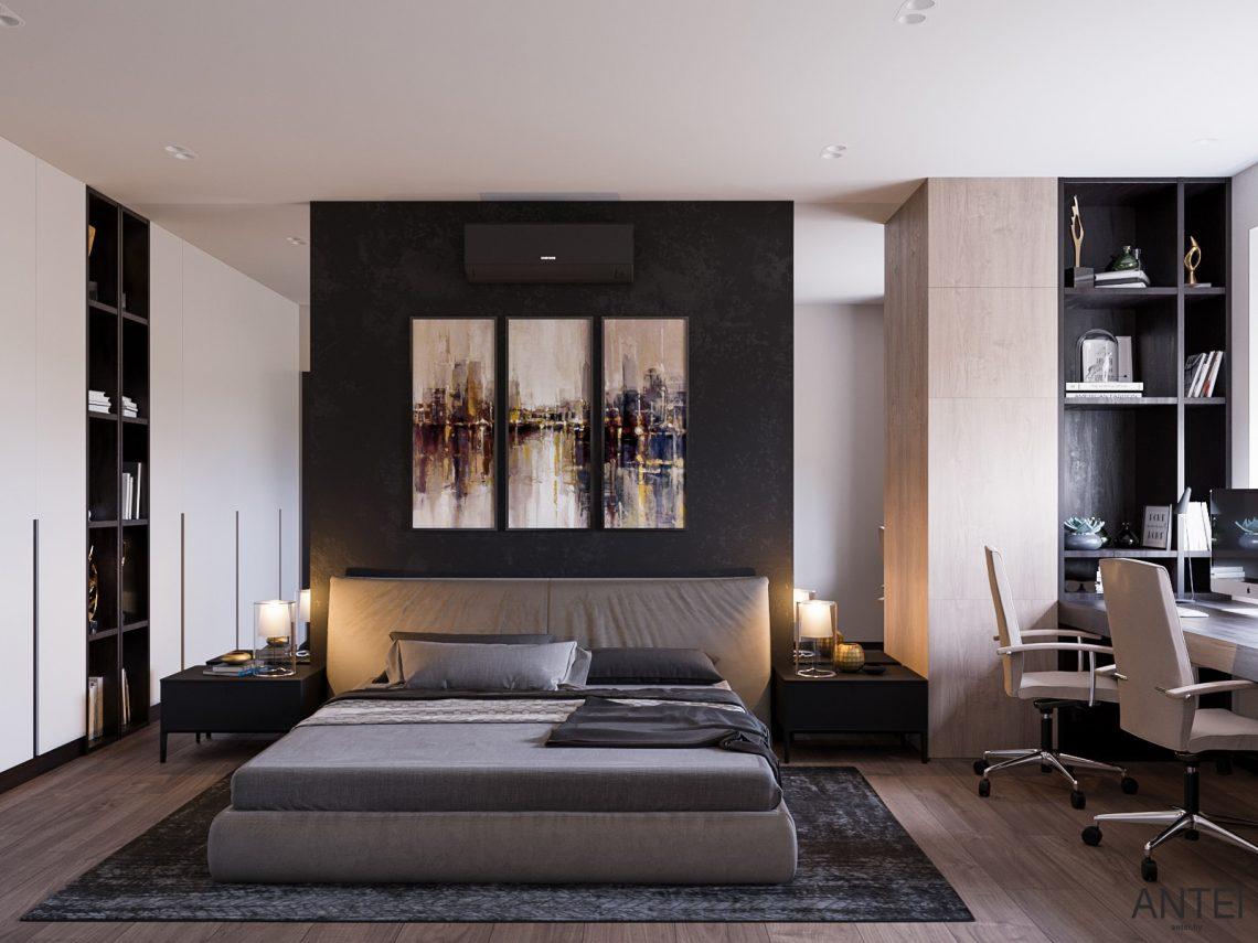 Дизайн интерьера трехкомнатная квартира в Гомеле, ул. Парижской Коммуны - спальня фото №1