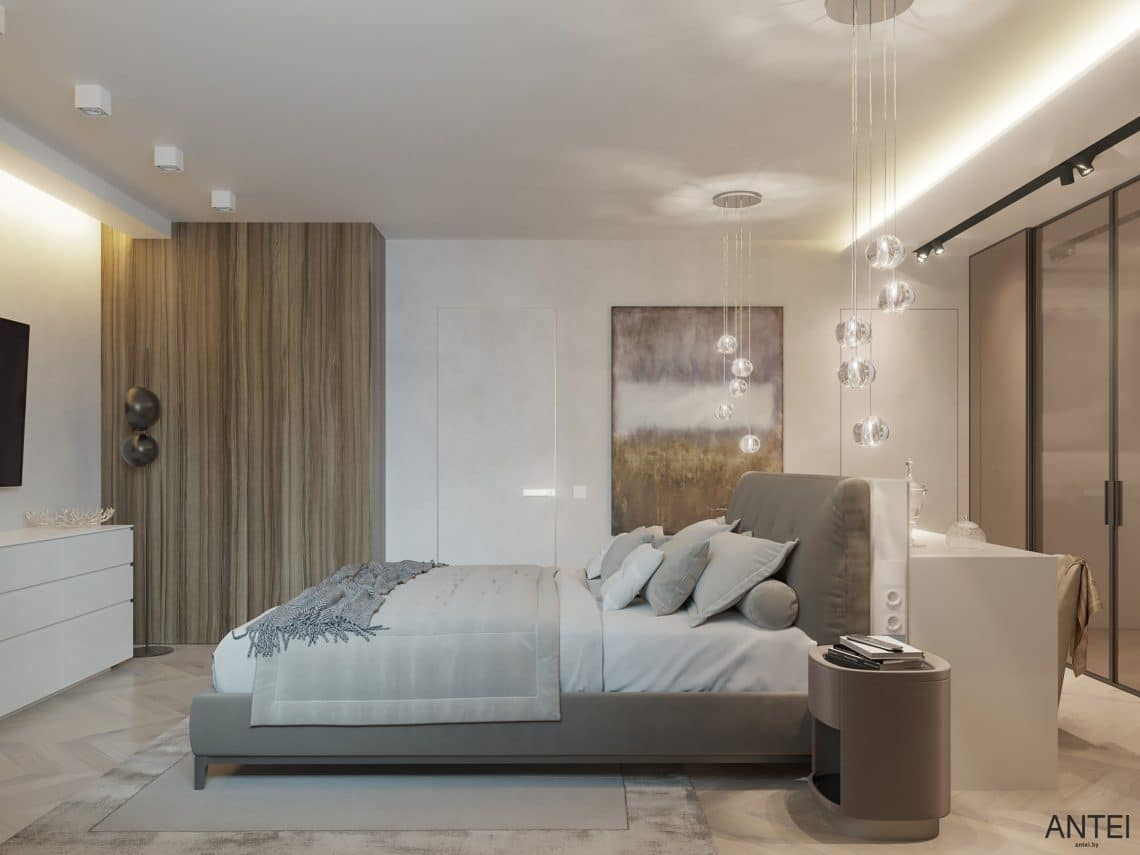 Дизайн интерьера трехкомнатной квартиры в Гомеле, ул. Советская - спальня фото №4