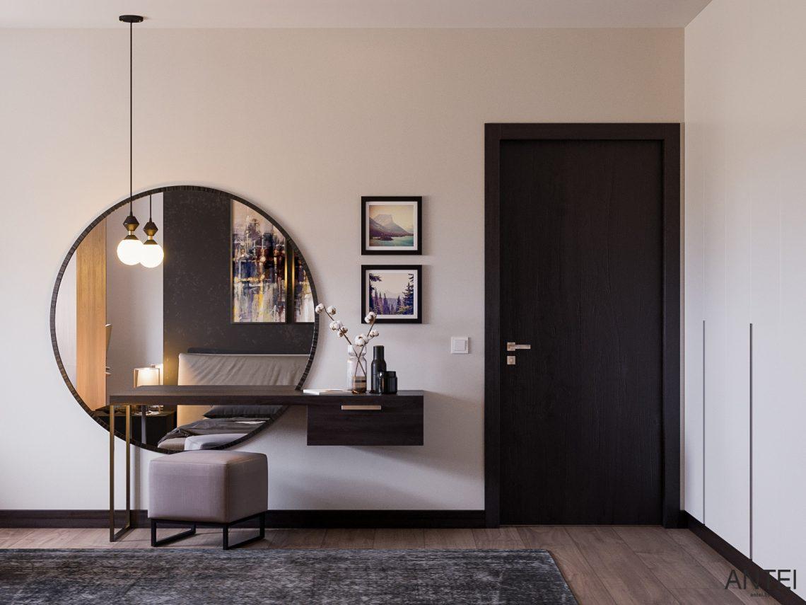 Дизайн интерьера трехкомнатная квартира в Гомеле, ул. Парижской Коммуны - спальня фото №2