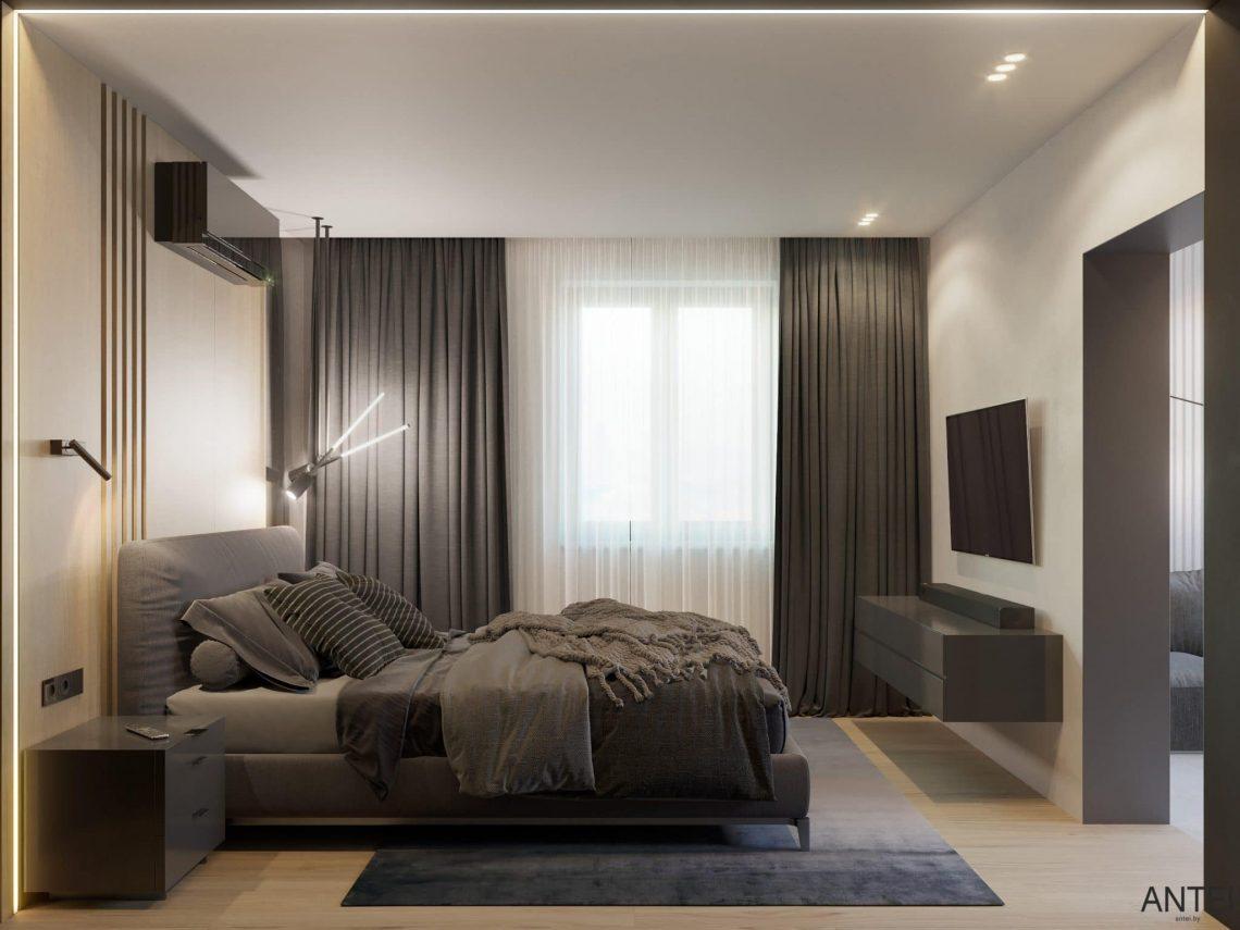 Дизайн интерьера трехкомнатная квартира в Минске, пр. Дзержинского - спальня фото №1