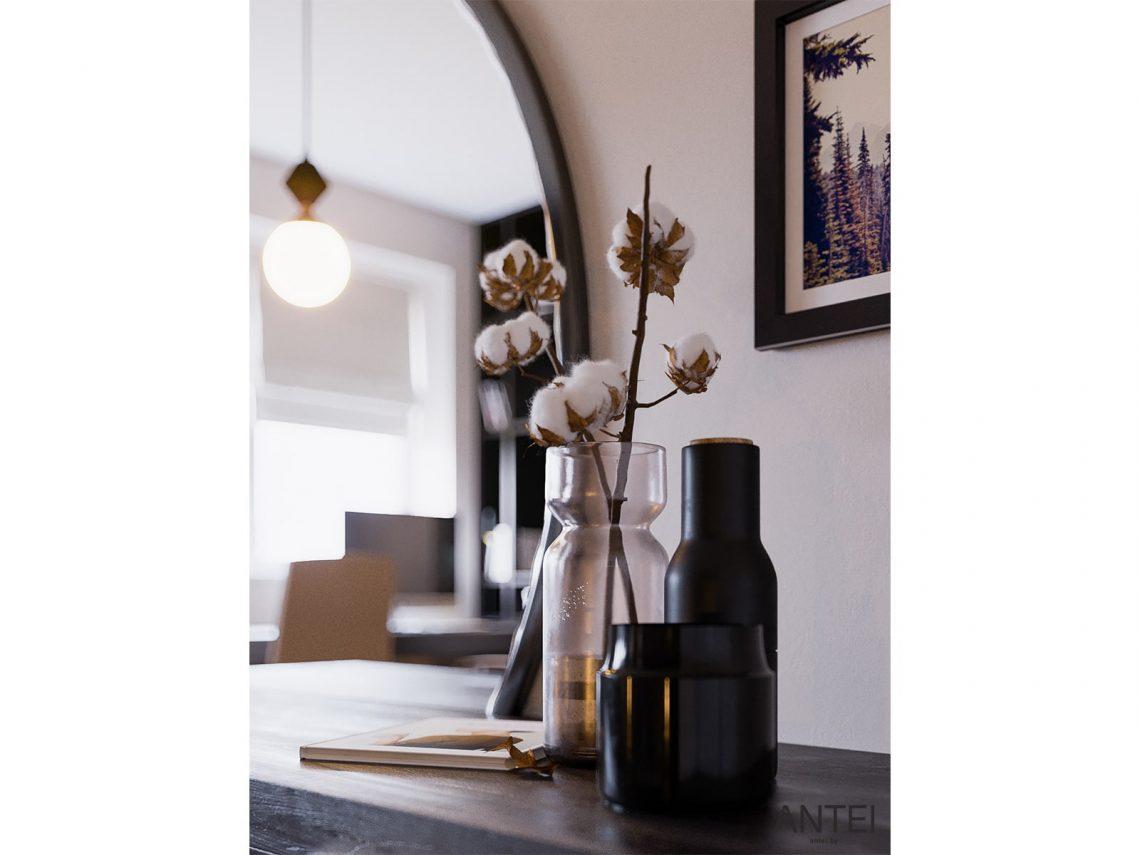 Дизайн интерьера трехкомнатная квартира в Гомеле, ул. Парижской Коммуны - спальня фото №6