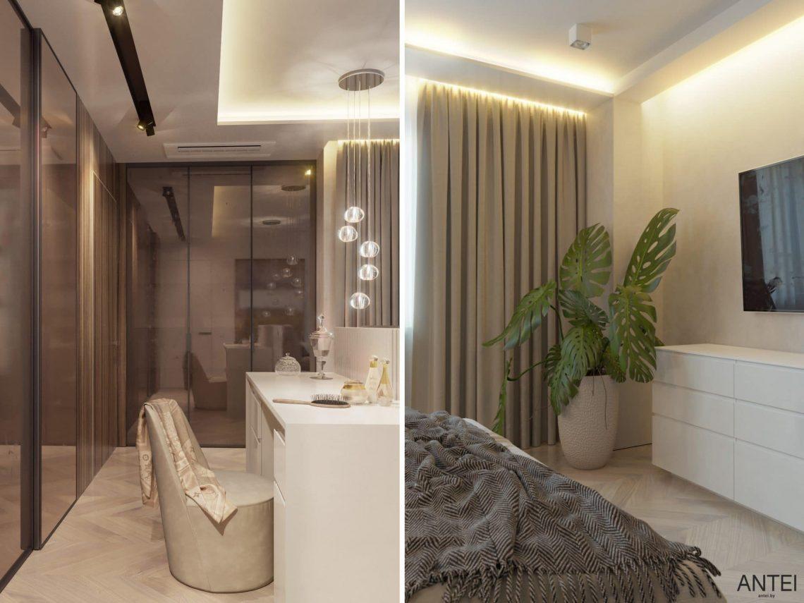 Дизайн интерьера трехкомнатной квартиры в Гомеле, ул. Советская - спальня фото №7