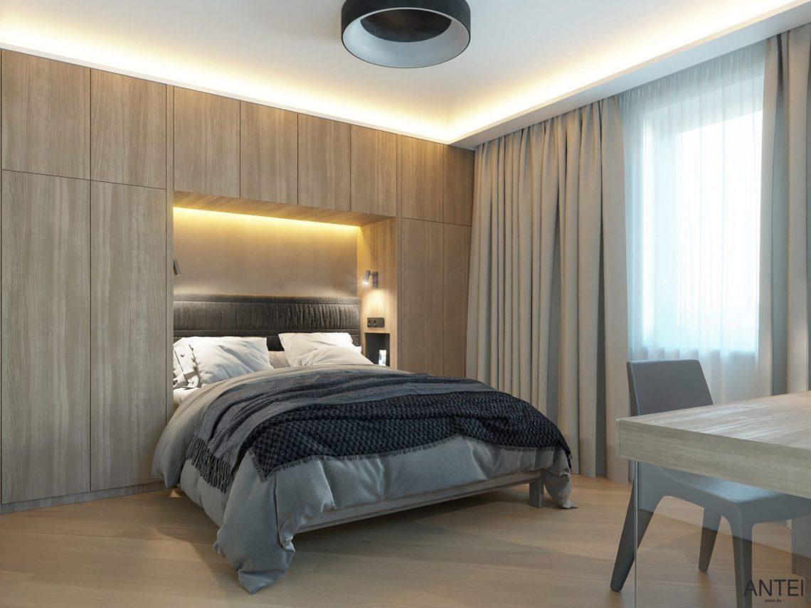 Дизайн интерьера трехкомнатной квартиры в Гомеле, ул. Советская - гостевая спальня фото №1