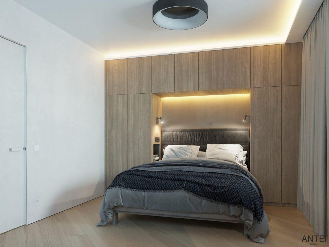 Дизайн интерьера трехкомнатной квартиры в Гомеле, ул. Советская - гостевая спальня фото №2