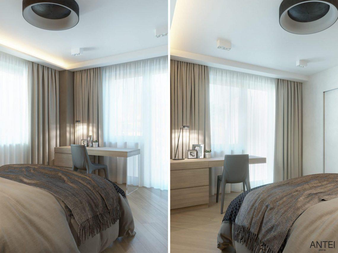 Дизайн интерьера трехкомнатной квартиры в Гомеле, ул. Советская - гостевая спальня фото №3