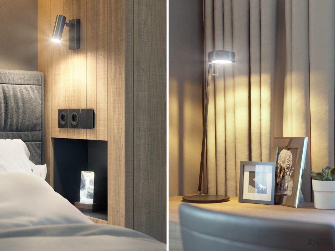 Дизайн интерьера трехкомнатной квартиры в Гомеле, ул. Советская - гостевая спальня фото №4