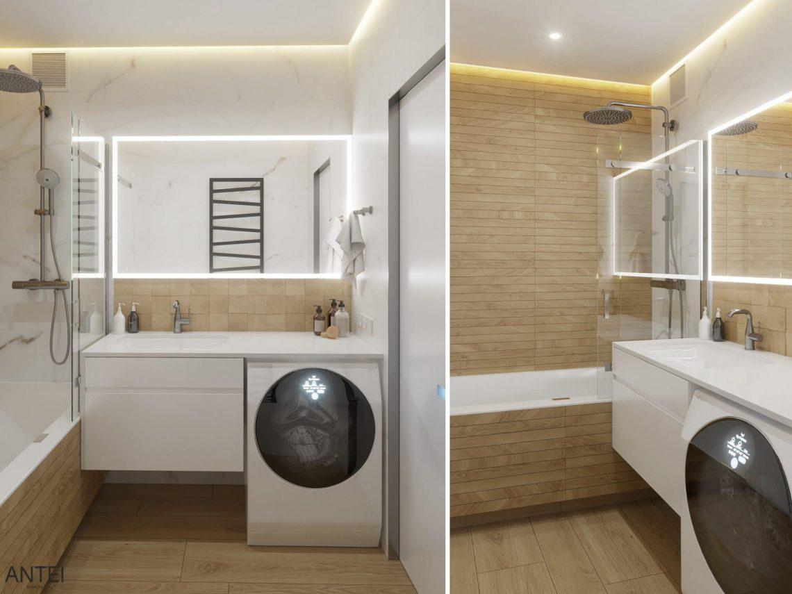 Дизайн интерьера трехкомнатная квартира в Минске, пр. Дзержинского - ванная фото №1
