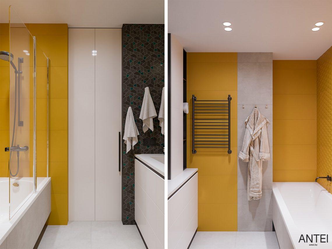 Дизайн интерьера трехкомнатная квартира в Гомеле, ул. Парижской Коммуны - ванная фото №2