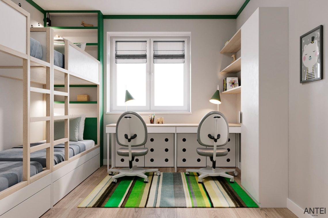 Дизайн интерьера трехкомнатной квартиры в Гомеле, ул. Волотовская - детская комната фото №6