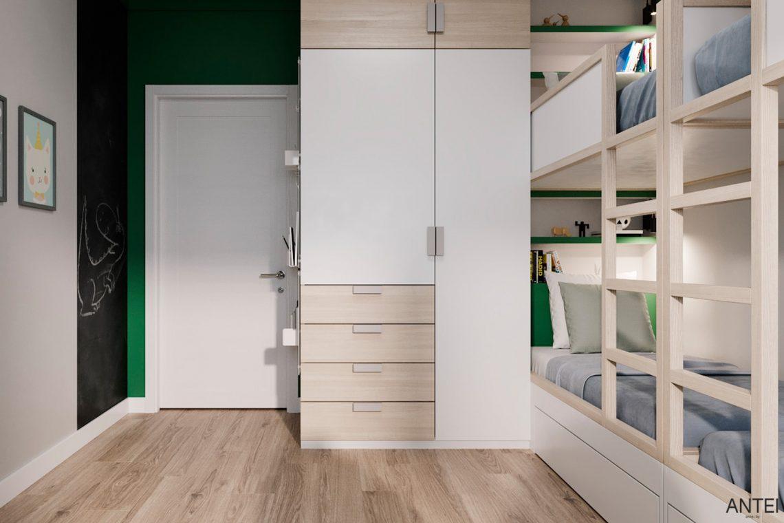 Дизайн интерьера трехкомнатной квартиры в Гомеле, ул. Волотовская - детская комната фото №5