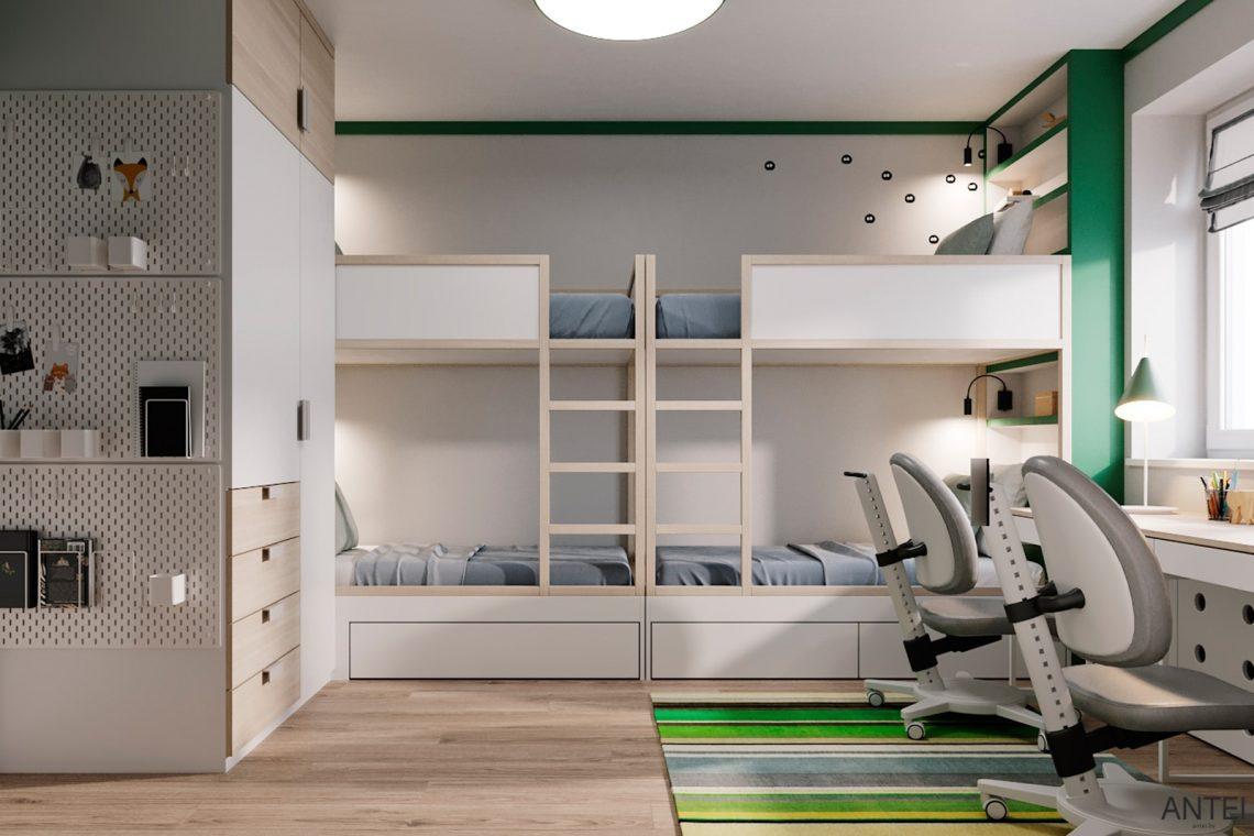 Дизайн интерьера трехкомнатной квартиры в Гомеле, ул. Волотовская - детская комната фото №4