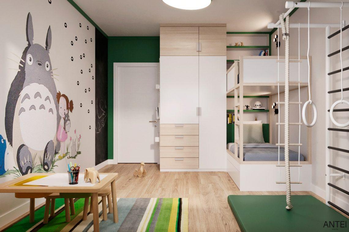 Дизайн интерьера трехкомнатной квартиры в Гомеле, ул. Волотовская - детская комната фото №2