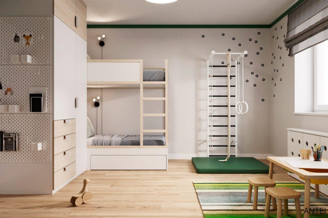Дизайн интерьера трехкомнатной квартиры в Гомеле, ул. Волотовская - детская комната фото №1