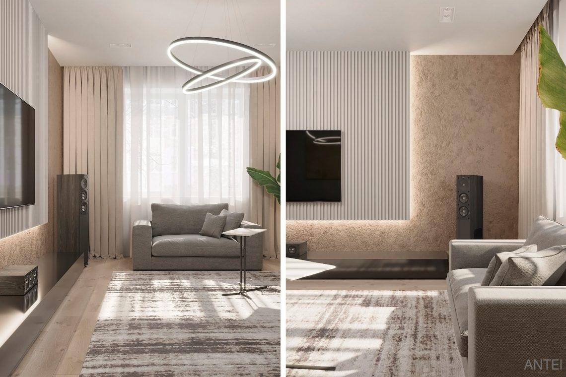 Дизайн интерьера двухкомнатной квартиры в Гомеле, ул. Сожская - гостиная фото №5