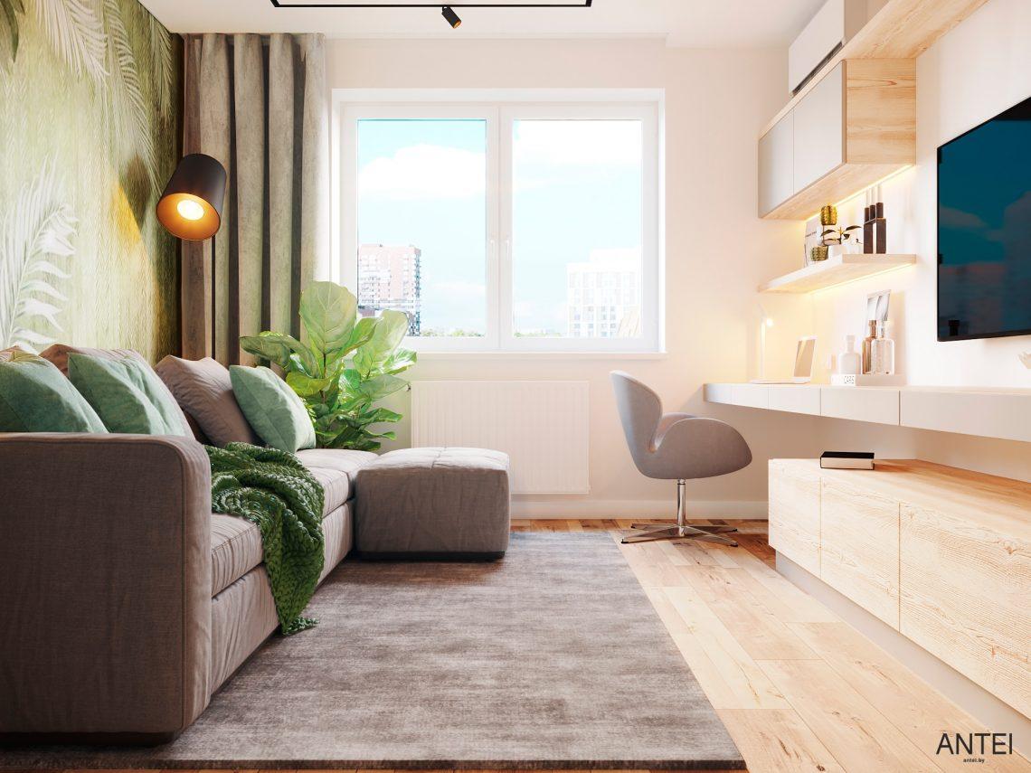 Дизайн интерьера однокомнатной квартиры в Гомеле, ул. Богданова - гостиная фото №4