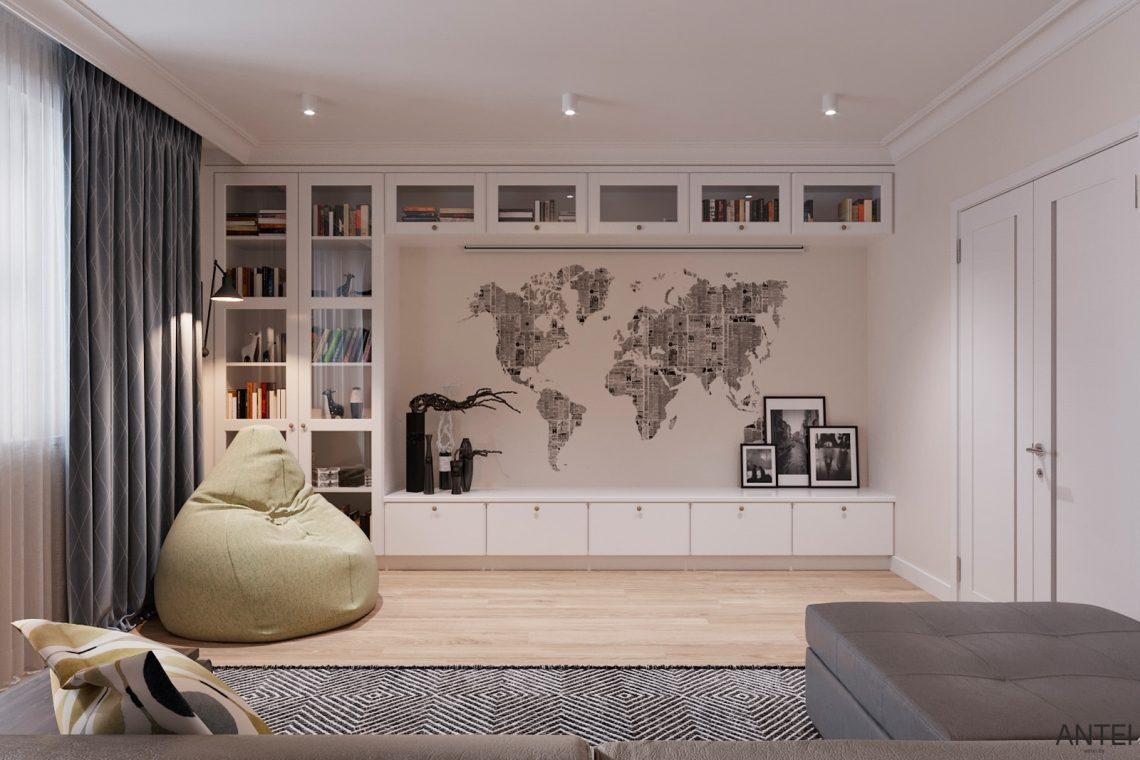 Дизайн интерьера трехкомнатной квартиры в Гомеле, ул. Волотовская - гостиная фото №2