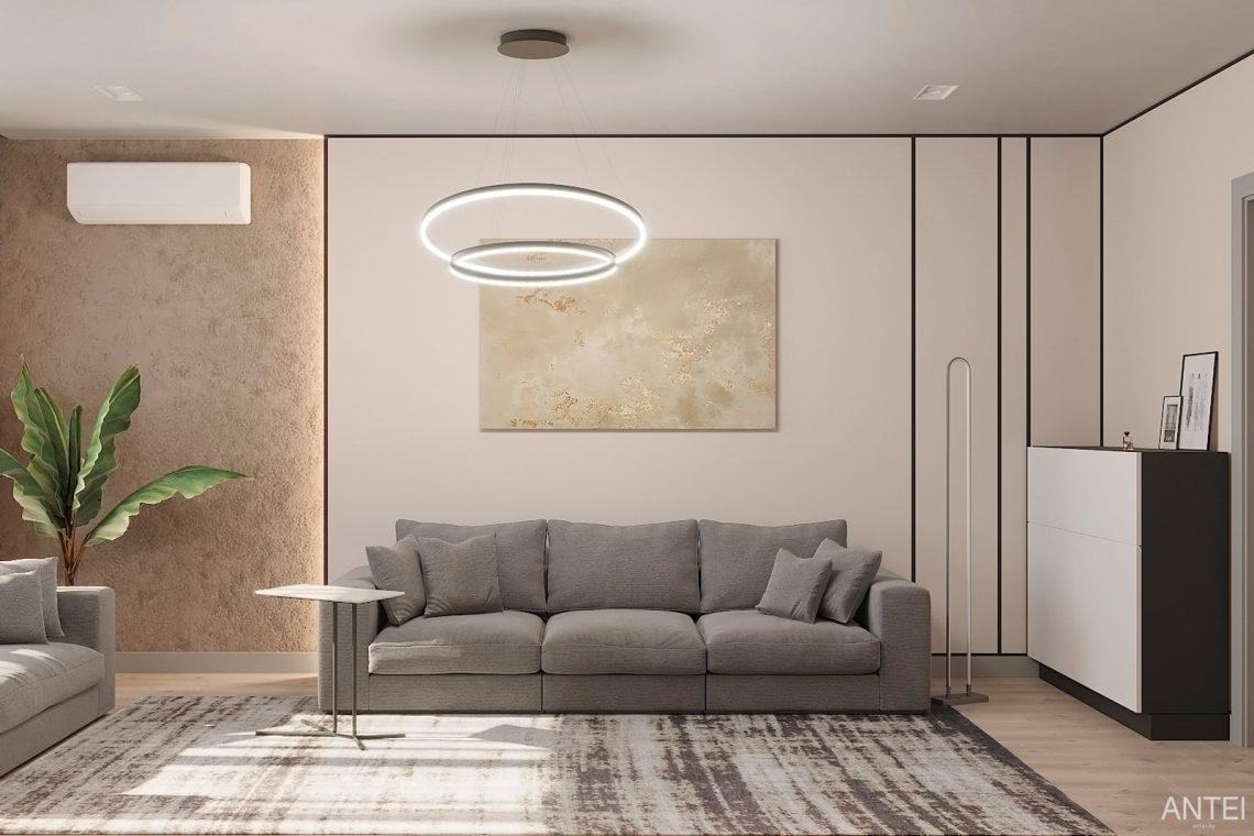 Дизайн интерьера двухкомнатной квартиры в Гомеле, ул. Сожская - гостиная фото №1