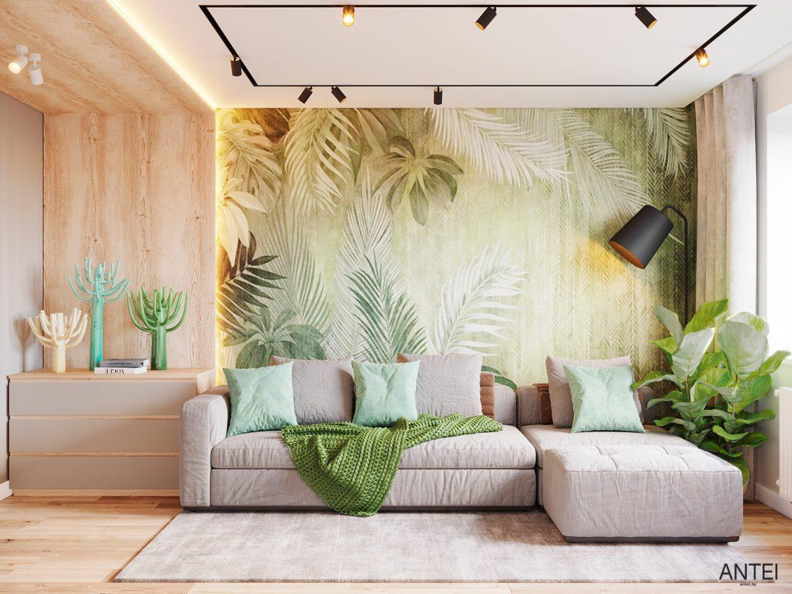 Дизайн интерьера однокомнатной квартиры в Гомеле, ул. Богданова - гостиная фото №1