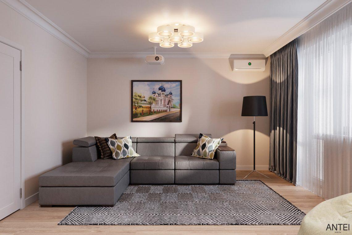Дизайн интерьера трехкомнатной квартиры в Гомеле, ул. Волотовская - гостиная фото №3