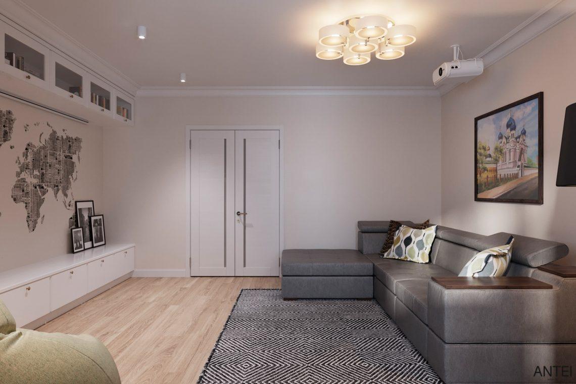 Дизайн интерьера трехкомнатной квартиры в Гомеле, ул. Волотовская - гостиная фото №4