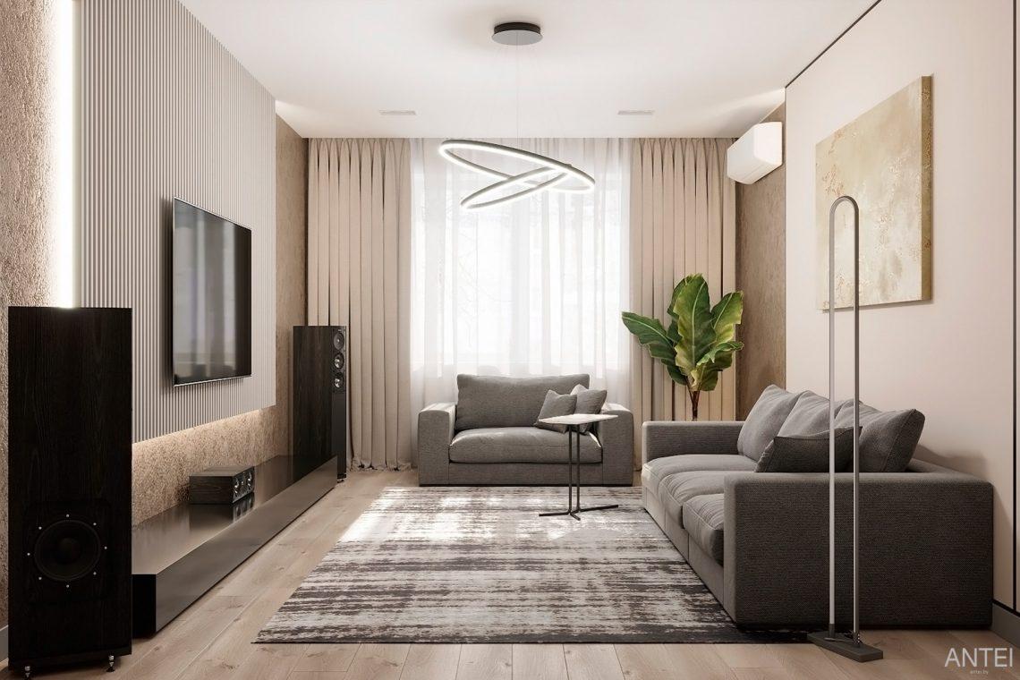 Дизайн интерьера двухкомнатной квартиры в Гомеле, ул. Сожская - гостиная фото №3