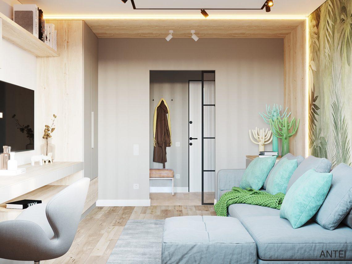 Дизайн интерьера однокомнатной квартиры в Гомеле, ул. Богданова - гостиная фото №5