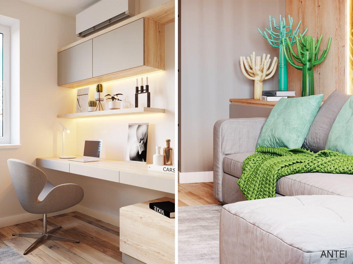 Дизайн интерьера однокомнатной квартиры в Гомеле, ул. Богданова - гостиная фото №3