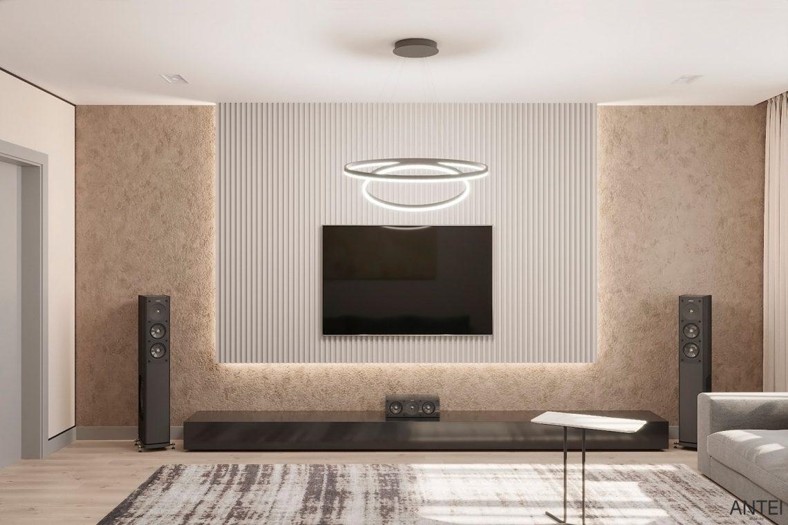 Дизайн интерьера двухкомнатной квартиры в Гомеле, ул. Сожская - гостиная фото №2