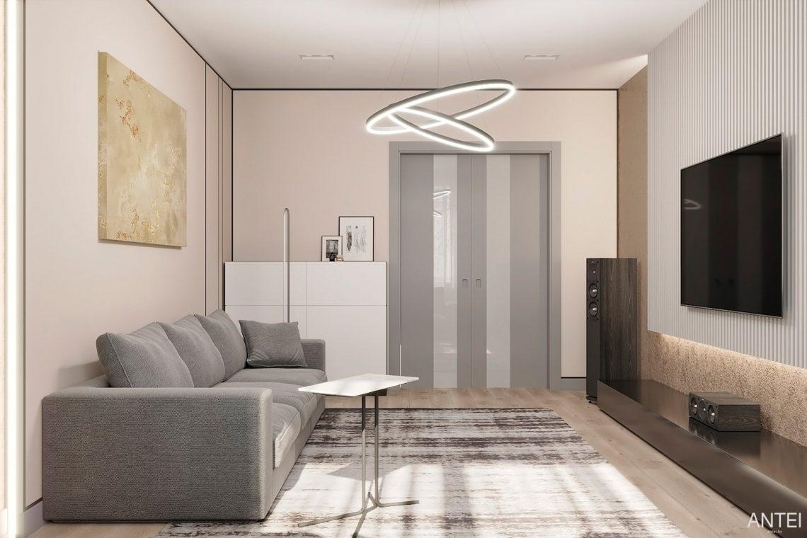 Дизайн интерьера двухкомнатной квартиры в Гомеле, ул. Сожская - гостиная фото №4