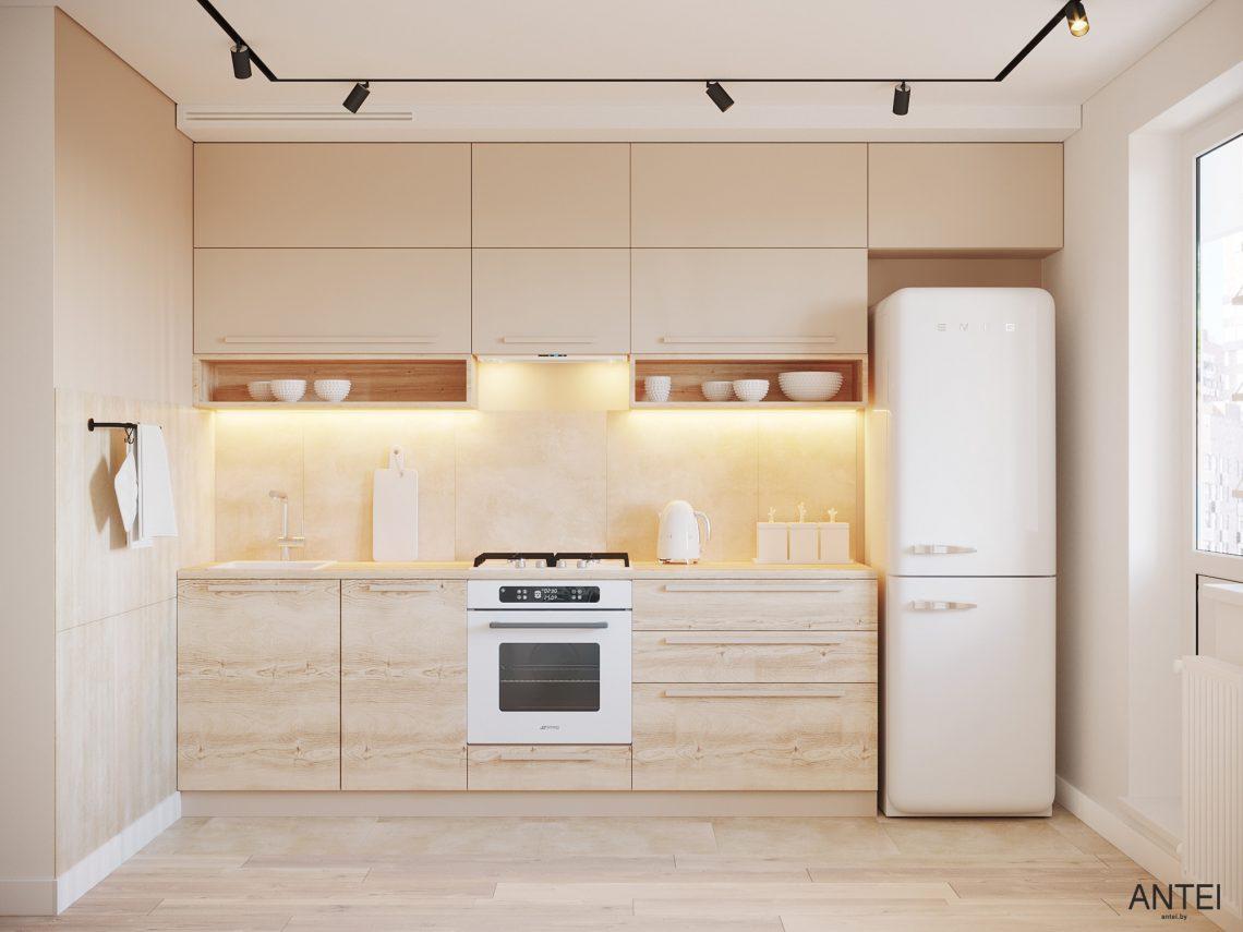 Дизайн интерьера однокомнатной квартиры в Гомеле, ул. Богданова - кухня фото №1