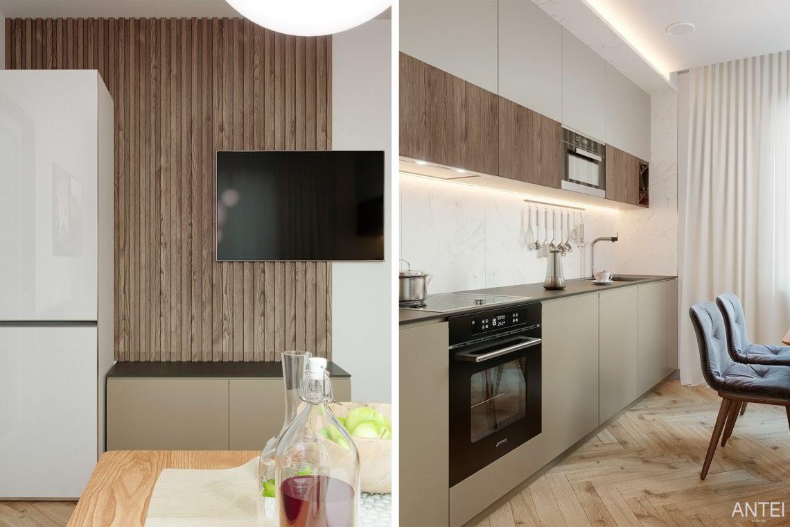 Дизайн интерьера двухкомнатной квартиры в Гомеле, ул. Сожская - кухня фото №3