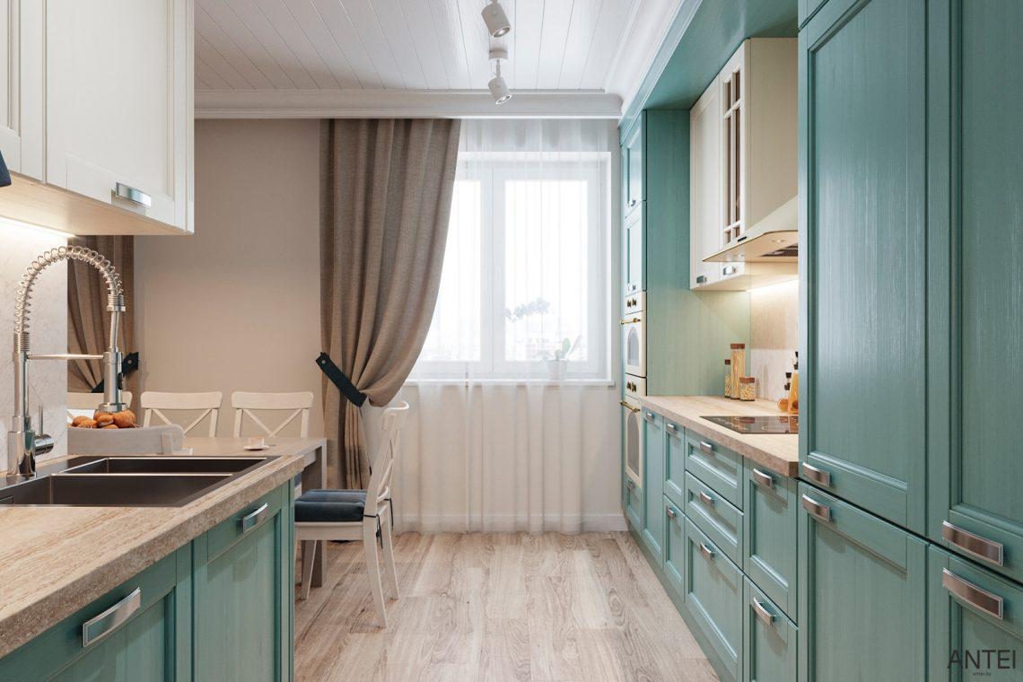 Дизайн интерьера трехкомнатной квартиры в Гомеле, ул. Волотовская - кухня фото №2