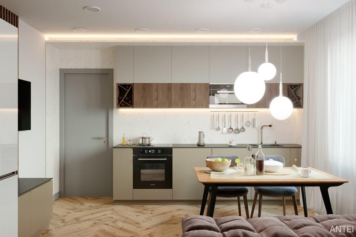 Дизайн интерьера двухкомнатной квартиры в Гомеле, ул. Сожская - кухня фото №1