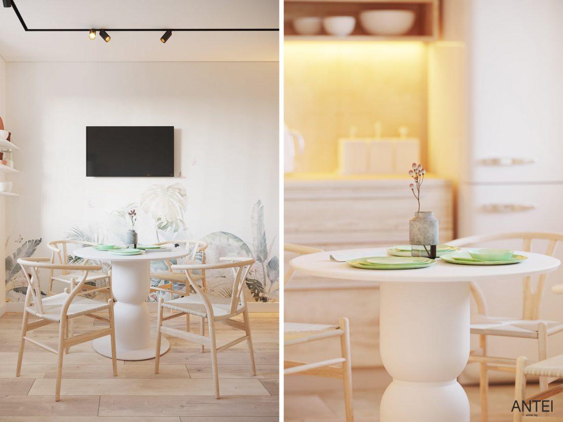 Дизайн интерьера однокомнатной квартиры в Гомеле, ул. Богданова - кухня фото №3