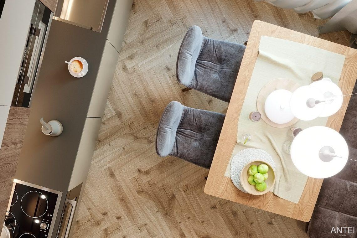 Дизайн интерьера двухкомнатной квартиры в Гомеле, ул. Сожская - кухня фото №5