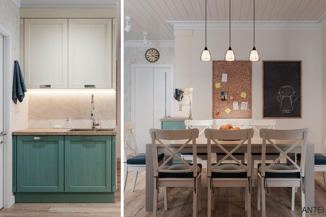 Дизайн интерьера трехкомнатной квартиры в Гомеле, ул. Волотовская - кухня фото №3
