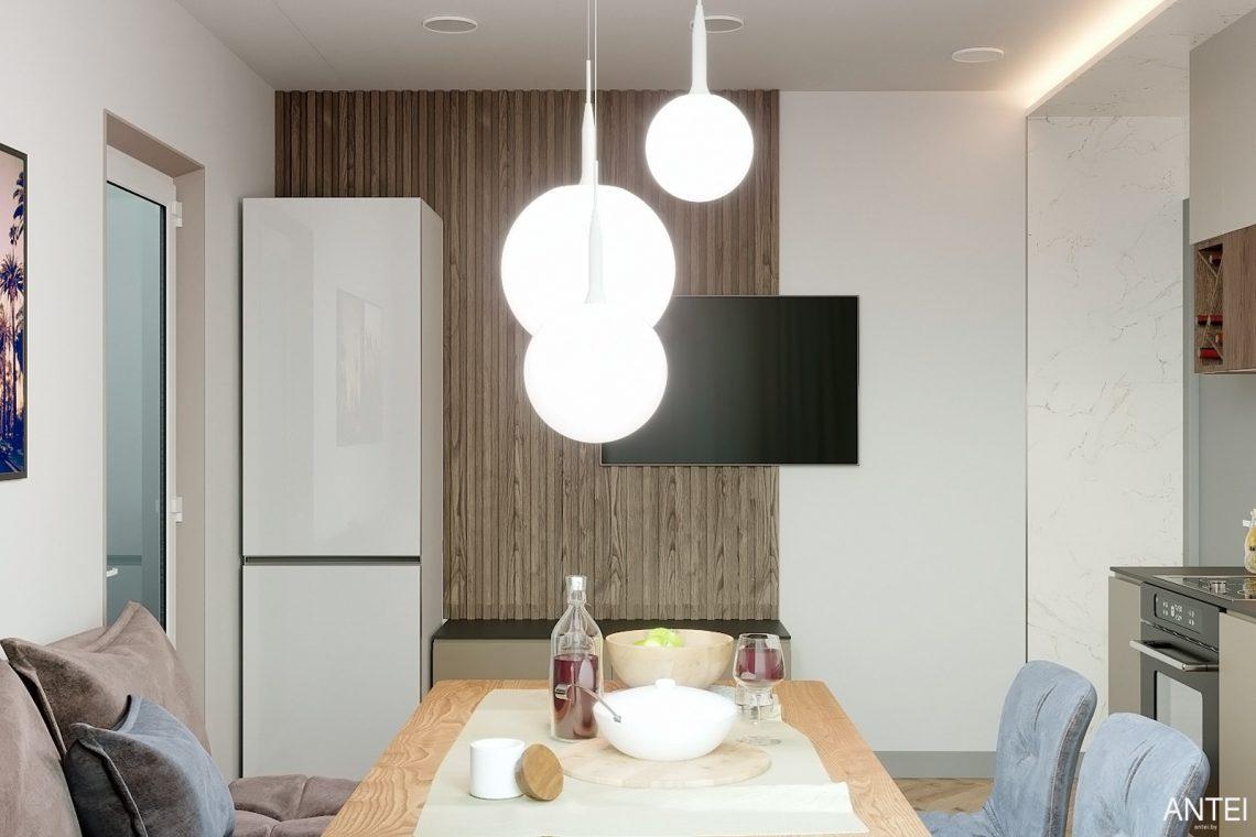 Дизайн интерьера двухкомнатной квартиры в Гомеле, ул. Сожская - кухня фото №4