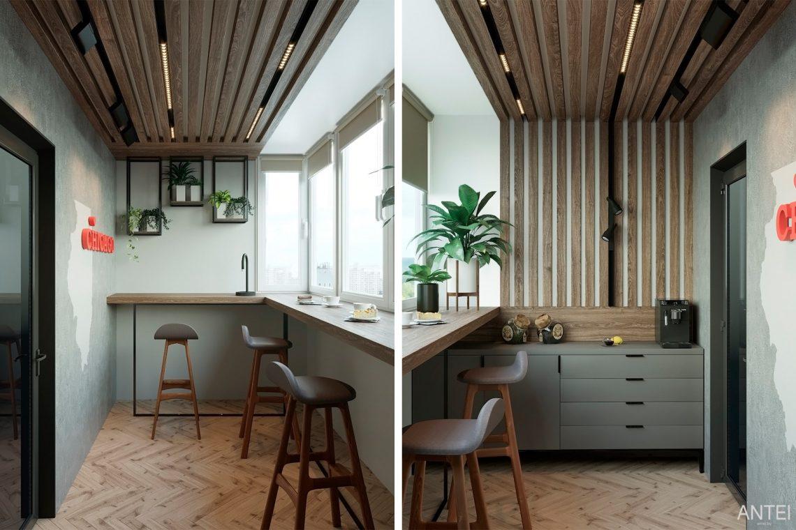 Дизайн интерьера двухкомнатной квартиры в Гомеле, ул. Сожская - лоджия фото №1