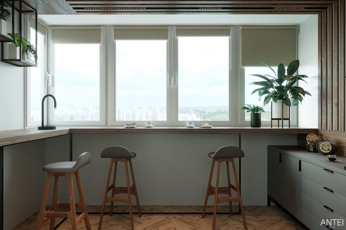 Дизайн интерьера двухкомнатной квартиры в Гомеле, ул. Сожская - лоджия фото №2