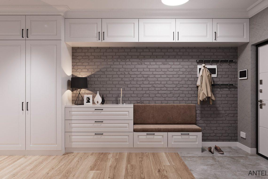 Дизайн интерьера трехкомнатной квартиры в Гомеле, ул. Волотовская - прихожая фото №1