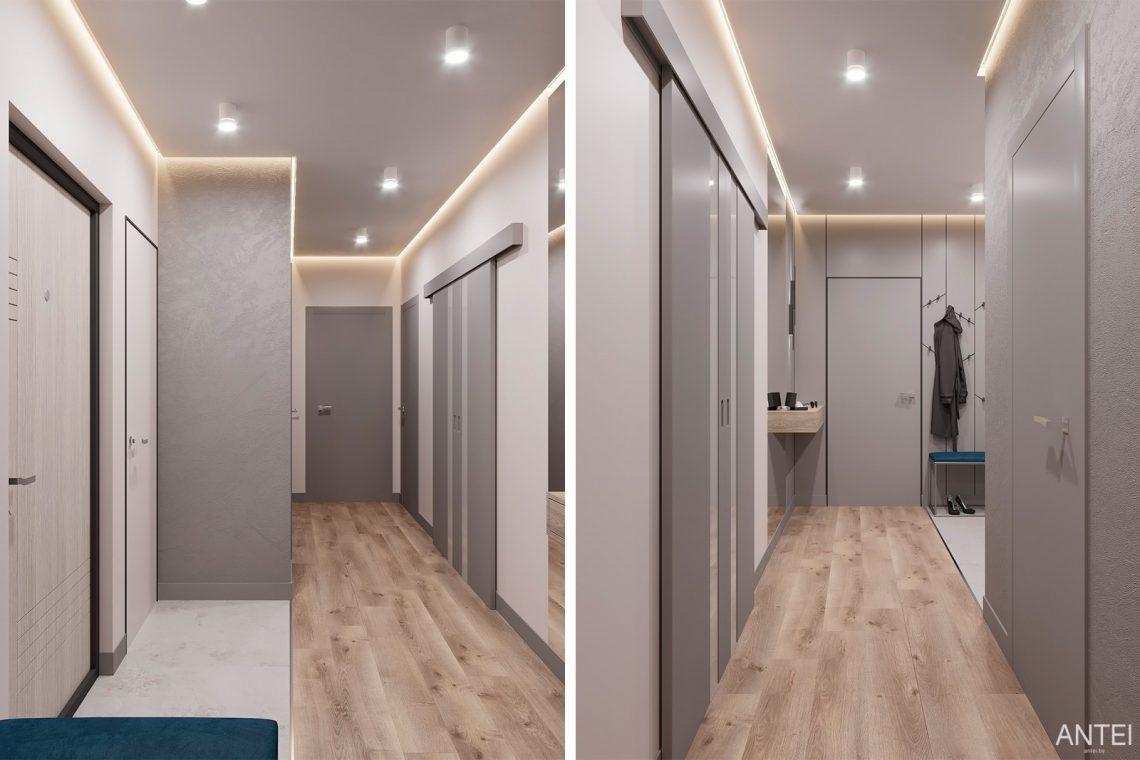 Дизайн интерьера двухкомнатной квартиры в Гомеле, ул. Сожская - прихожая фото №2