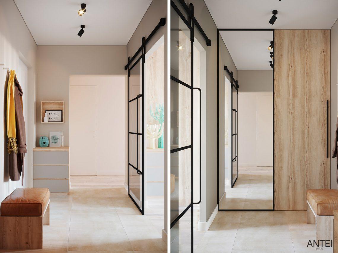 Дизайн интерьера однокомнатной квартиры в Гомеле, ул. Богданова - прихожая фото №1