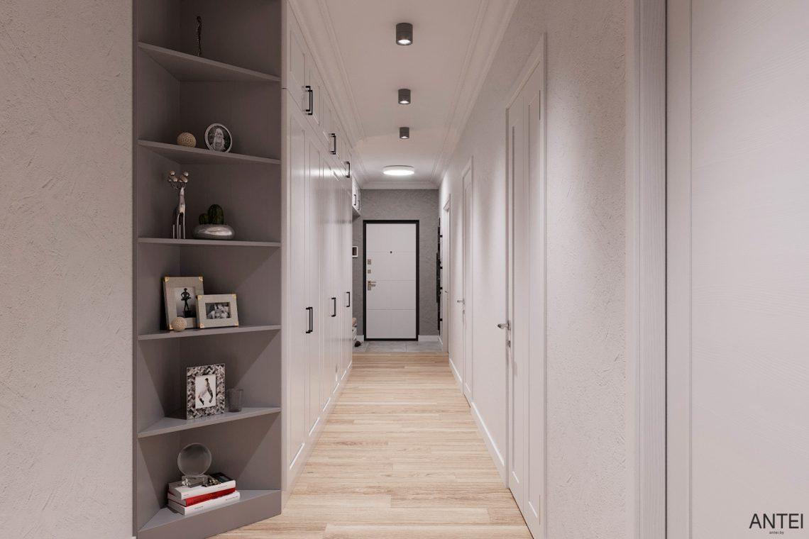 Дизайн интерьера трехкомнатной квартиры в Гомеле, ул. Волотовская - прихожая фото №2