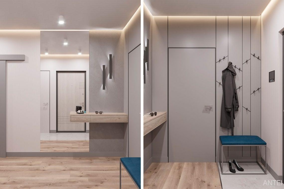 Дизайн интерьера двухкомнатной квартиры в Гомеле, ул. Сожская - прихожая фото №1