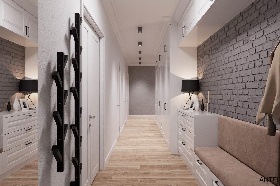 Дизайн интерьера трехкомнатной квартиры в Гомеле, ул. Волотовская - прихожая фото №3