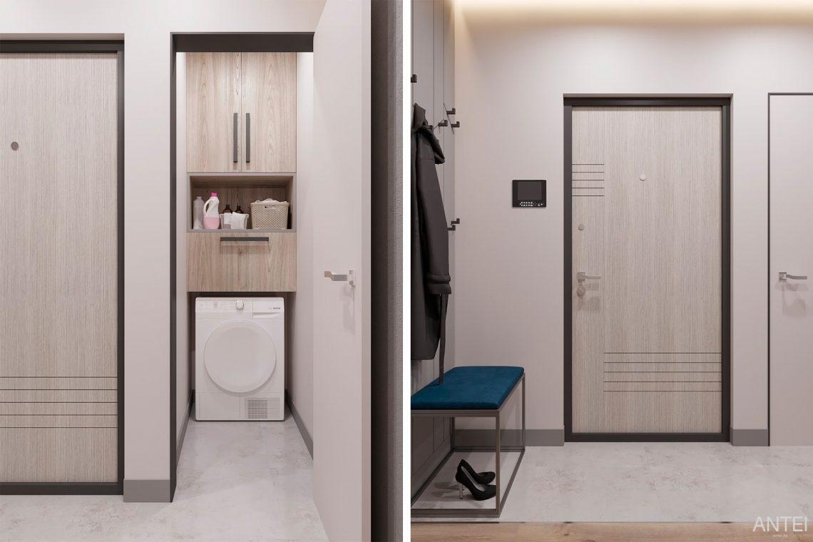 Дизайн интерьера двухкомнатной квартиры в Гомеле, ул. Сожская - прихожая фото №3