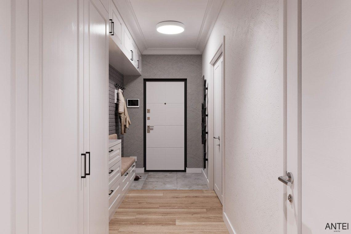 Дизайн интерьера трехкомнатной квартиры в Гомеле, ул. Волотовская - прихожая фото №5