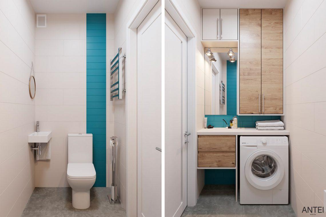 Дизайн интерьера трехкомнатной квартиры в Гомеле, ул. Волотовская - санузел фото №1