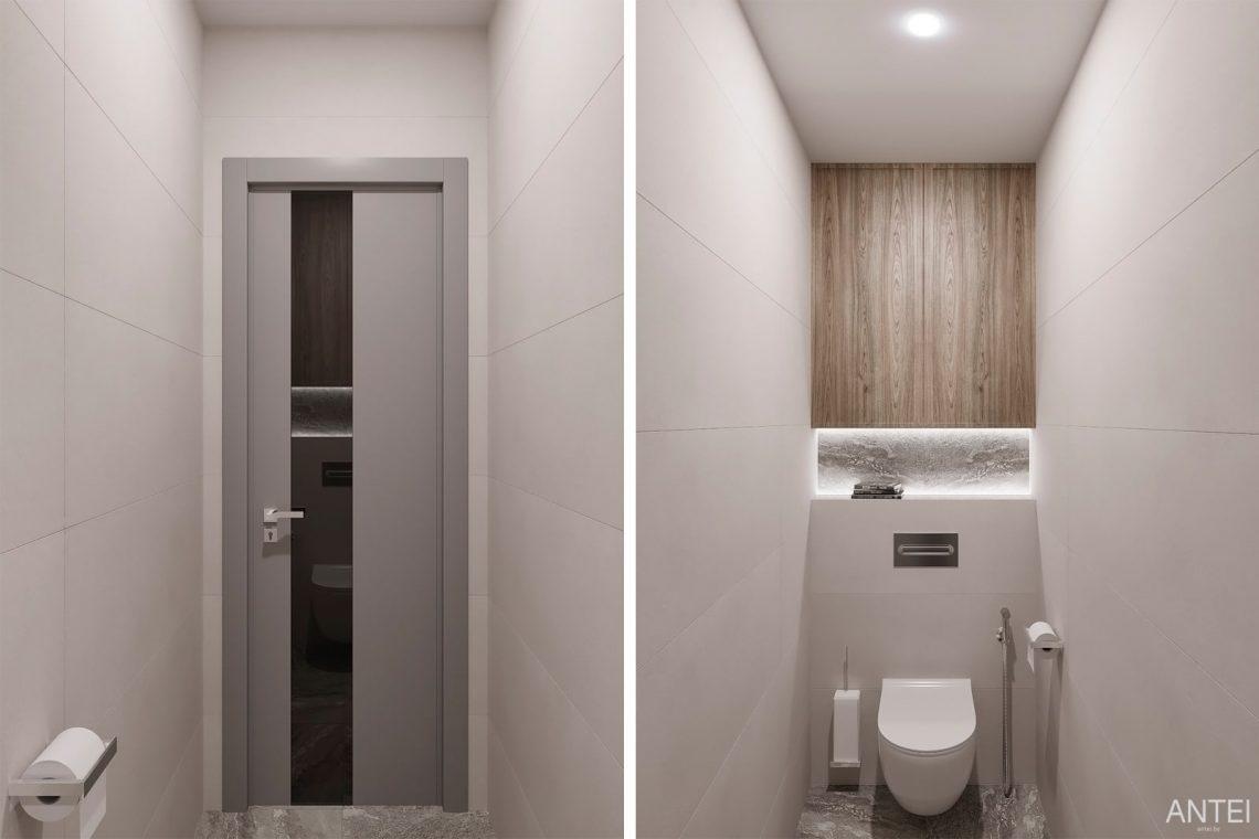 Дизайн интерьера двухкомнатной квартиры в Гомеле, ул. Сожская - санузел фото №1